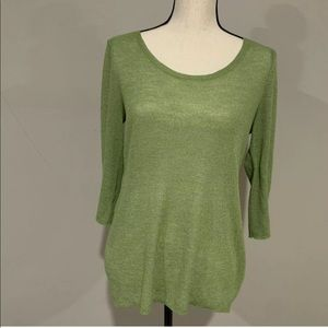 Chico's Womens Top Size 0 Small Green Sweater